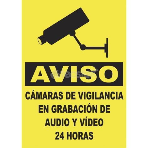 Placa homologada de exterior aviso videovigilancia en - Camaras de vigilancia con grabacion ...