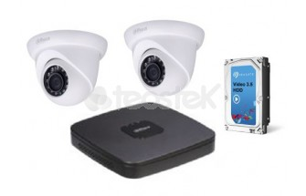 Kit Videovigilancia IP. Grabador Tribido + 2 camaras IP + Disco duro (Kits videovigilancia)