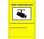 Placa homologada de exterior Aviso Videovigilancia (en castellano)