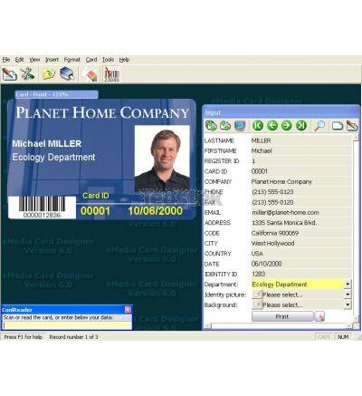 Software de diseño de tarjetas eMedia