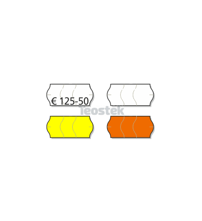 Etiquetas Adhesivas Marcaje 26 x 12 mm Onduladas