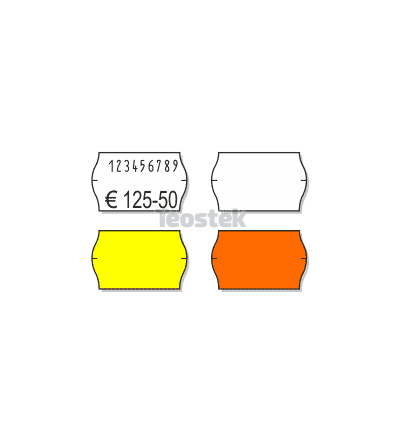 Etiquetas Adhesivas Marcaje 26 x 16 mm Onduladas FLUOR