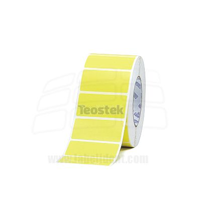 Rollos de Etiquetas Plásticas Amarillas de 40 x 30 ( CAJA 3 ROLLOS)