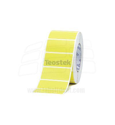 Rollos de Etiquetas AMARILLAS Adhesivas de Papel para Impresoras Transferencia Termica - GODEX