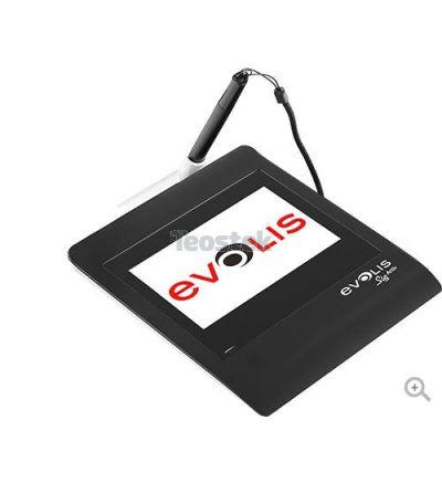 Evolis Sig Activ es una tableta de firmas con la tecnología de resonancia electromagnética (ERT) garantizando una calidad de captura de firma fiable y de alta seguridad.