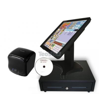 KIT Monitor Táctil + Cajón Monedero + Impresora de tickets + Software CodigoAberto TPV para Comercios / Hosteleria