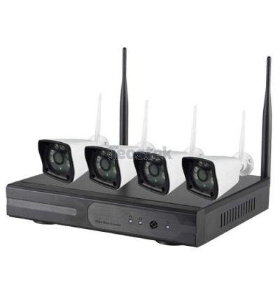 Kit de cámaras con videograbador IP de facil instalación (Plug & Play), con comexión TCP/IP o WiFi.