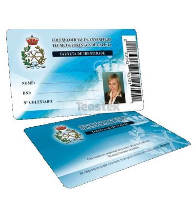 "Tarjetas  PVC calidad Premium 86 x 54 x 0,76 cantos romos - Formato ""VISA"" - Impresión en offset dos caras 4/4 colores."