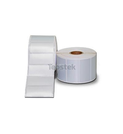 Rollos de Etiquetas Adhesivas color Plata de Poliester para Impresoras Desktop Transferencia Térmica GODEX . Core de 25 mm / Diametro rollo 127 mm