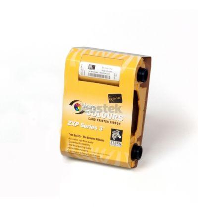 Ribbon KrO black resin con overlay - ZEBRA True Colours para impresoras de tarjetas ZXP SERIES 3 - 500 impresiones por rollo
